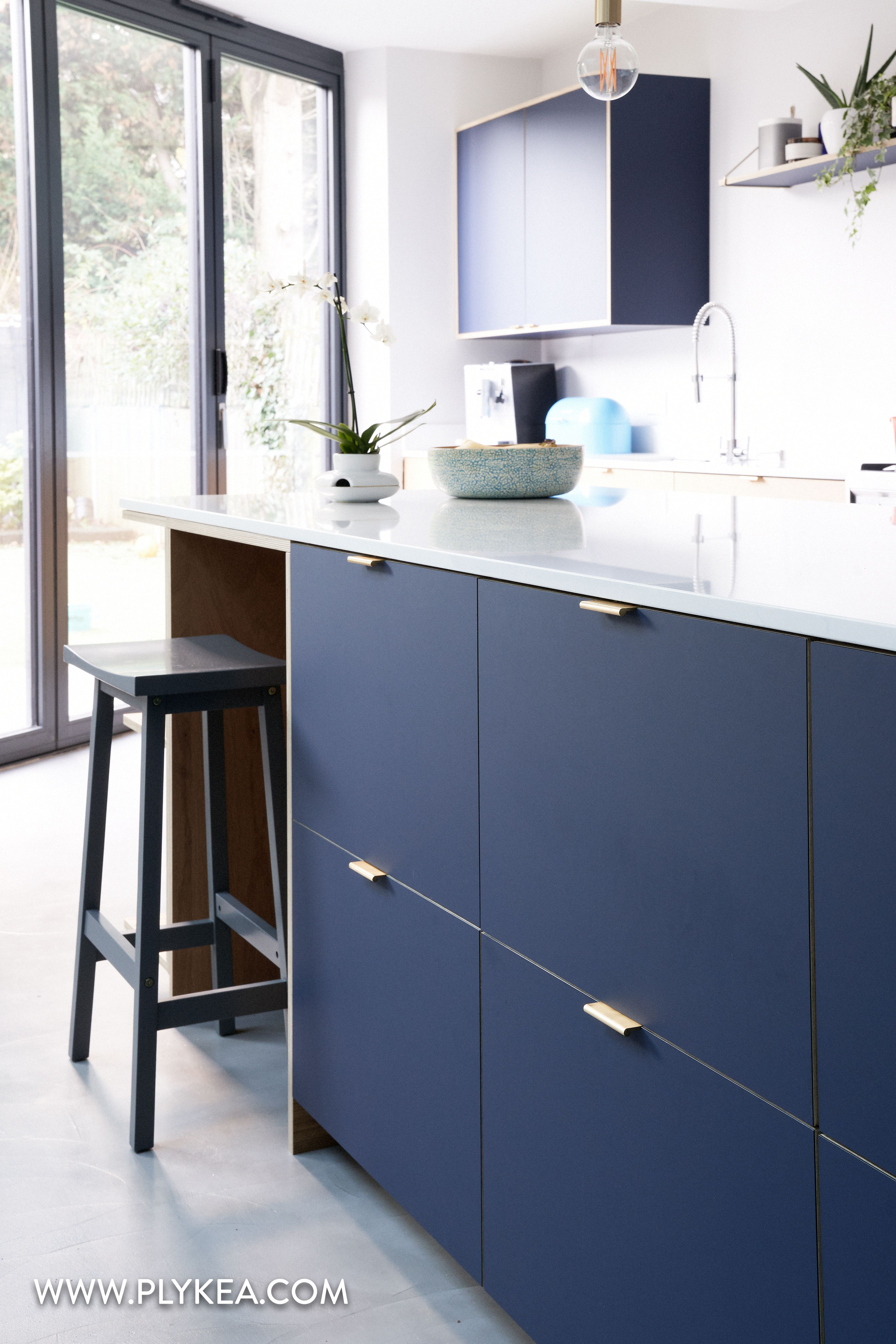 Blu Fez Fenix And Oak Are Combined Along With Our Brass Edge Pull