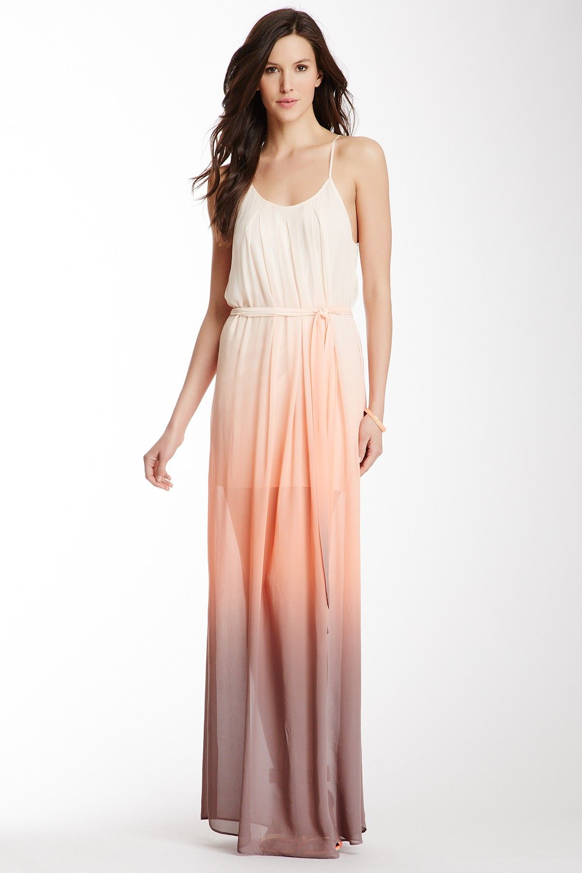 Long sheer chiffon dresses like this are on my summer wish for Summer maxi dress for wedding