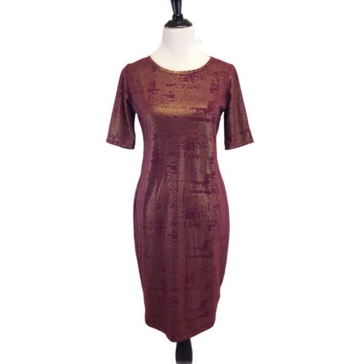 c84cdb35d7f Lularoe M Medium Elegant Collection Julia Dress Maroon