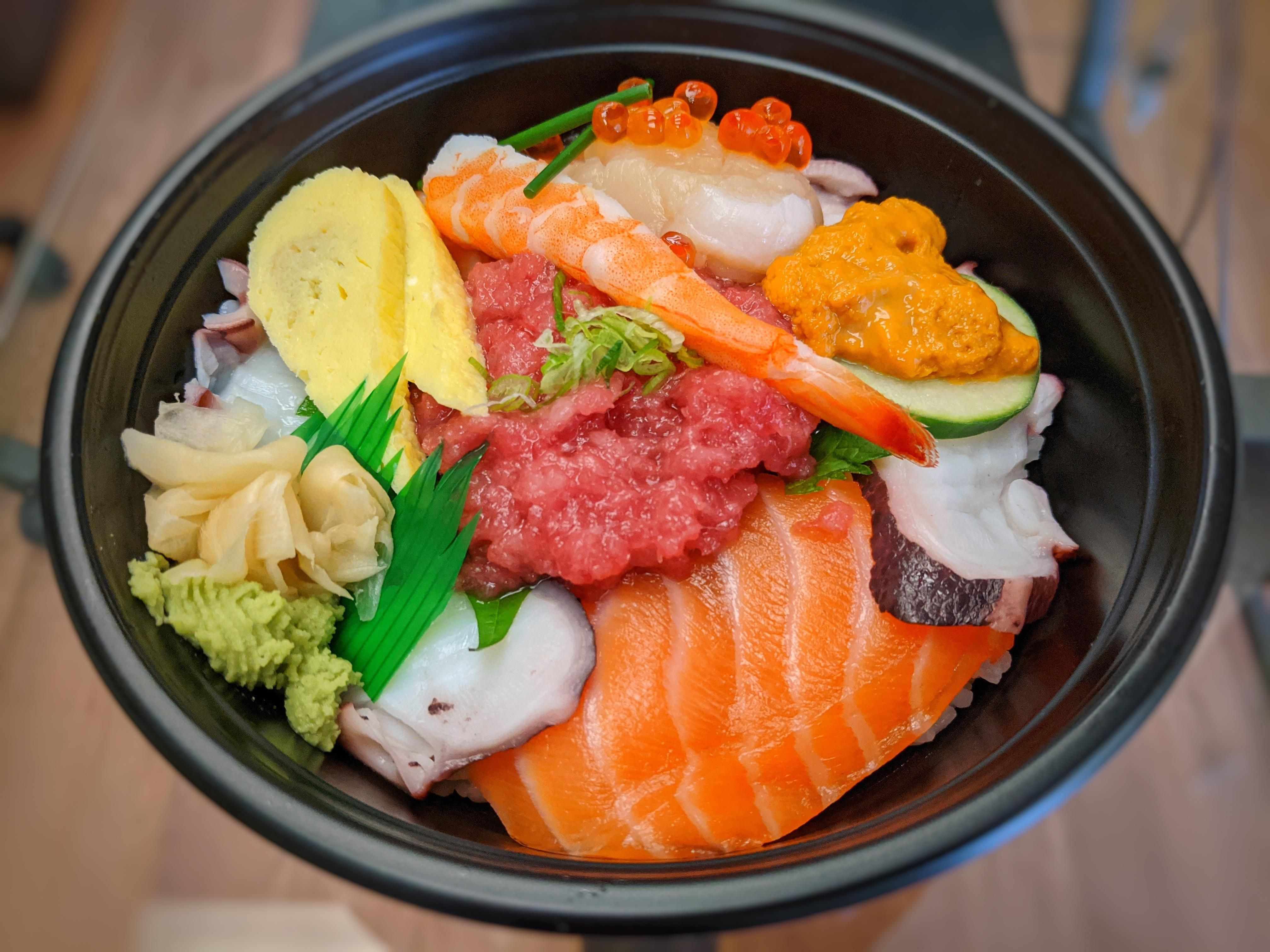 Deluxe Chirashi Don In 2020 Asian Cooking Food Asian Recipes