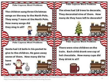 Christmas Math Games 1st Grade Addition Subtraction Word Problems Task Cards Word Problems Math Word Problems Subtraction Word Problems