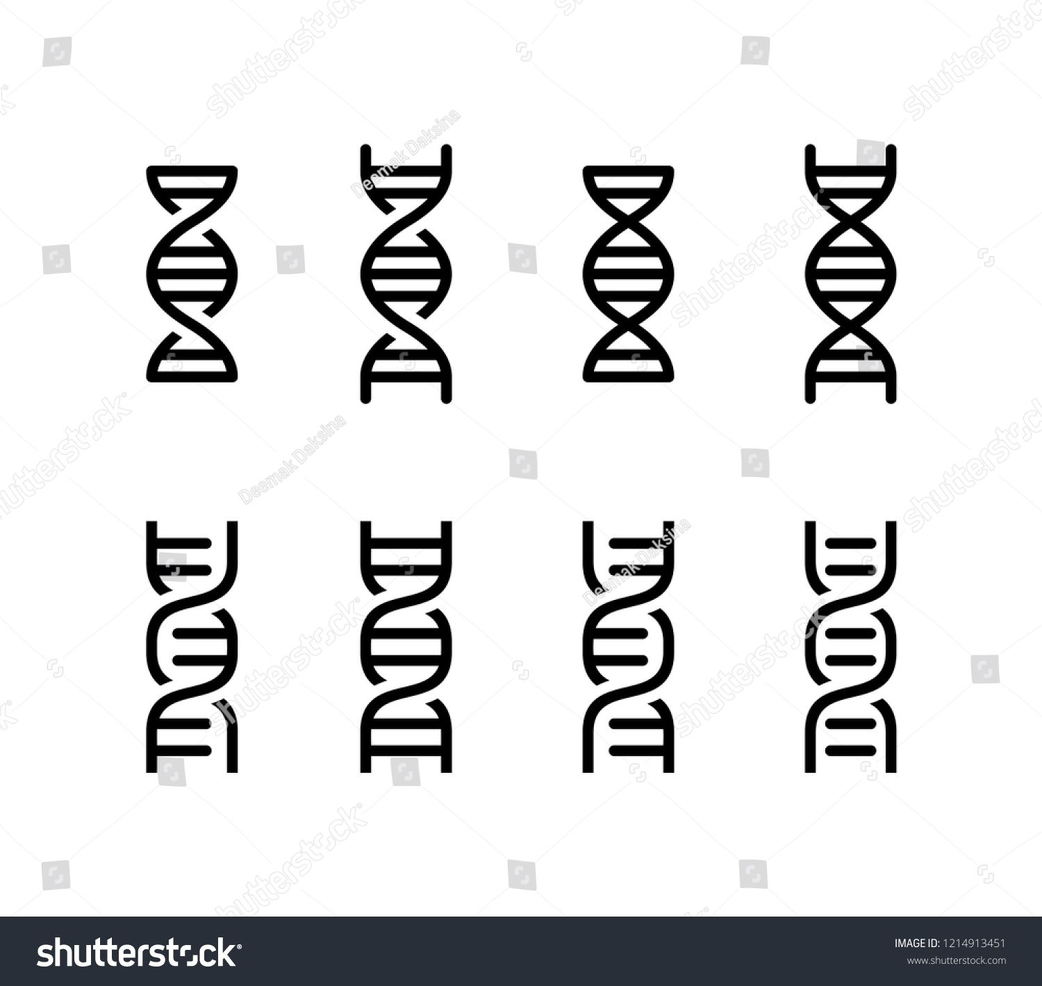 Chromosome Set Dna Icon Design Dna Genetic Helix Gene Structure Chromosome