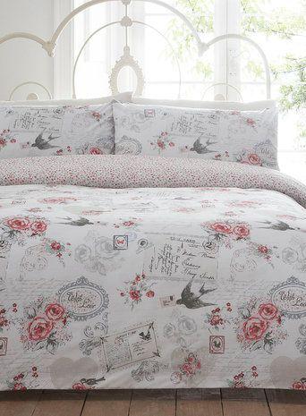 Vintage Finds Printed Bedding Set With Roses Bedding Sets Vintage Bedding Set Vintage Bedspread