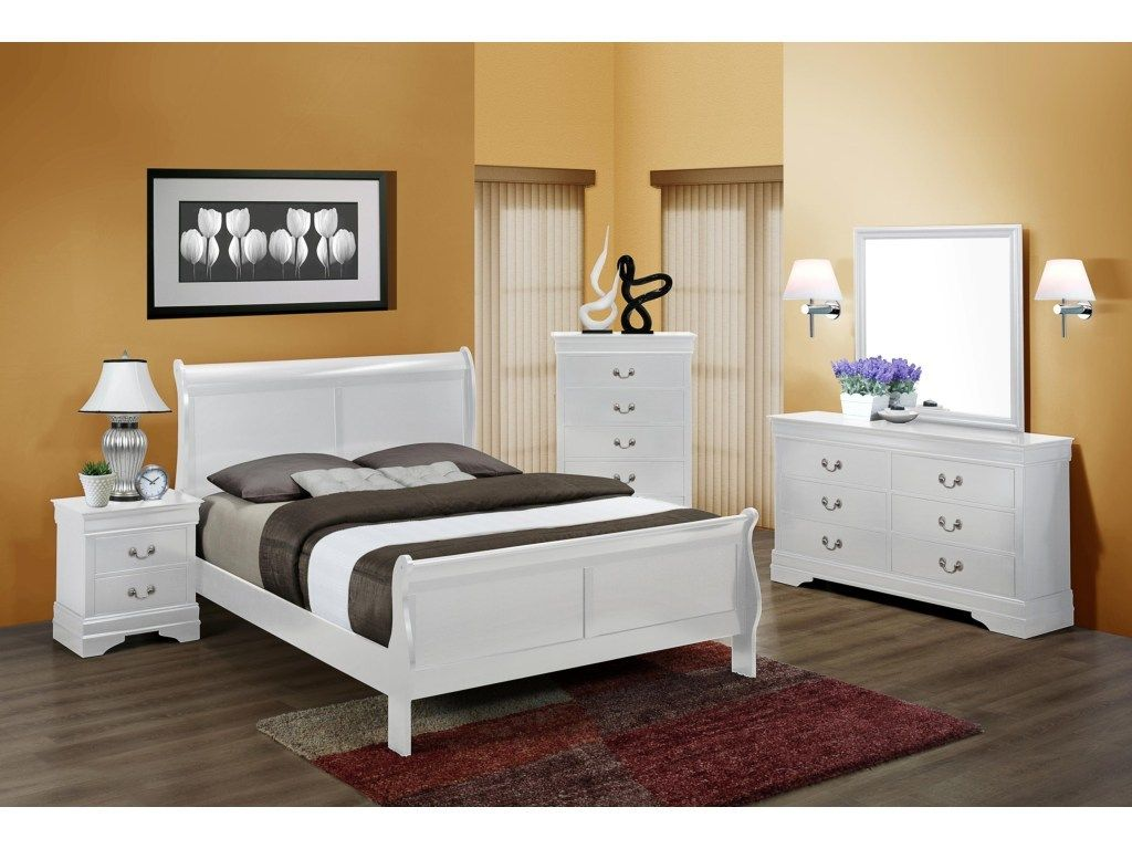 Crown Mark Louis Philip Collection White B3650 Bedroom Set Savvy Discount Furniture White Bedroom Set Bedroom Design Bedroom Set
