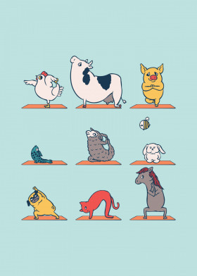 Yoga Every Damn Day by Chalermphol Harnchakkham | metal posters - Displate #vegan explore… | Displate thumbnail