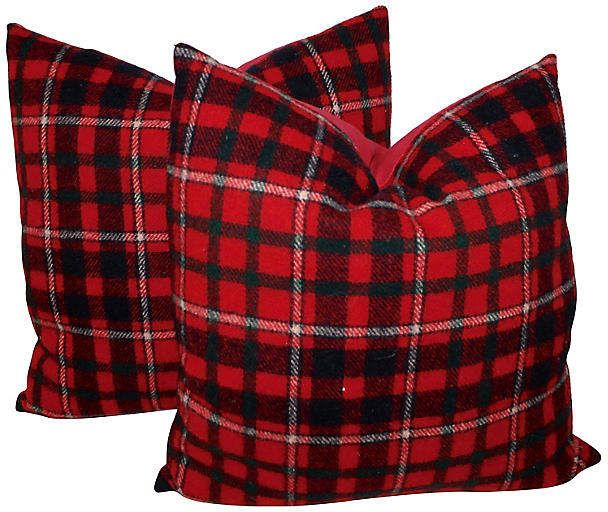 Plaid Pillows   Set Of 2   Luis Rodriquez