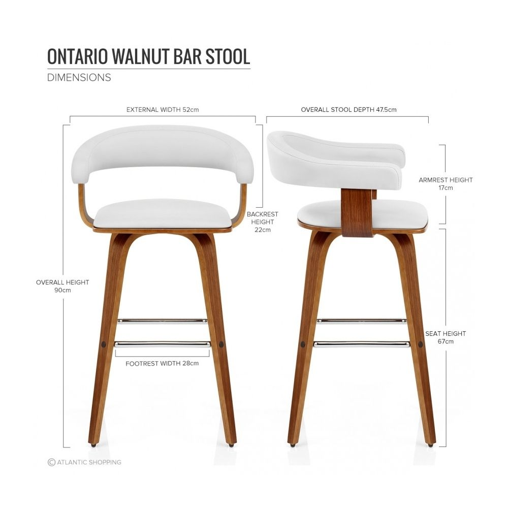 Chaise De Bar Faux Cuir Bois Ontario Apartamento En