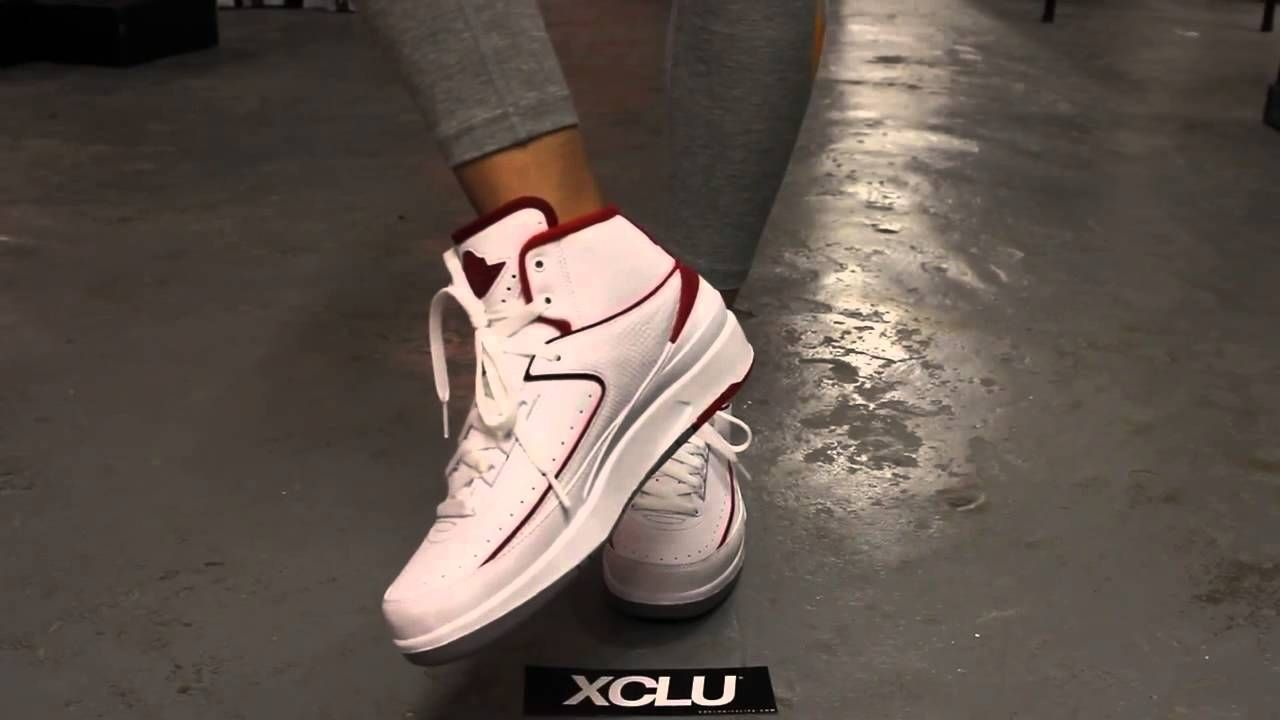 b22d97e6692d11 ... promo code for air jordan 2 gs varsity red on feet video exclucity  youtube nike sneakers