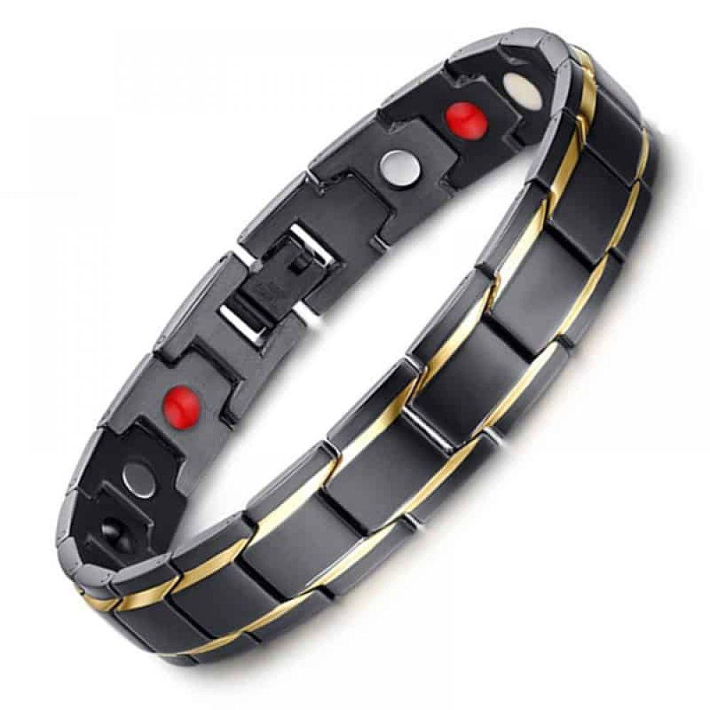 Health bracelet mens black health