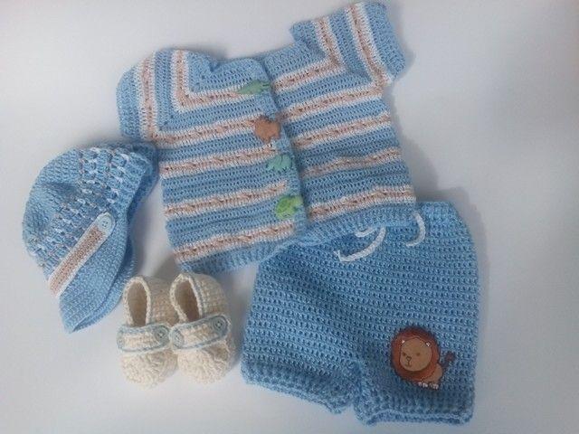 Ropa de bebe varon a crochet por tejiditos Avliss by Rosalyn Facebook