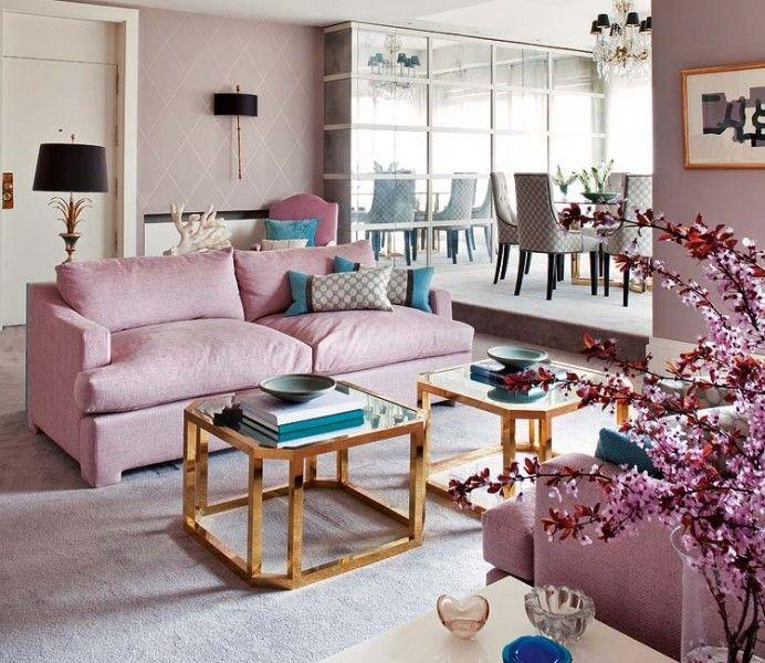 نتيجة بحث الصور عن لون لحمي على وردي للكنب مخمل Feminine Living Room Purple Living Room Interior Design Living Room