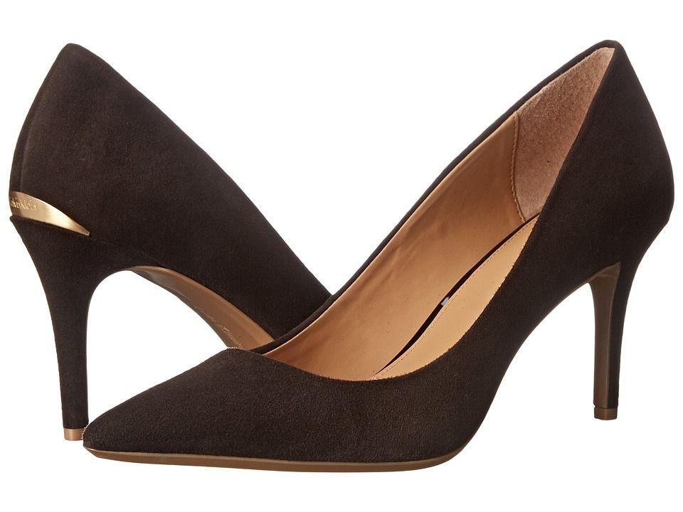 Womens Shoes Calvin Klein Gayle Dark Red Kid Suede