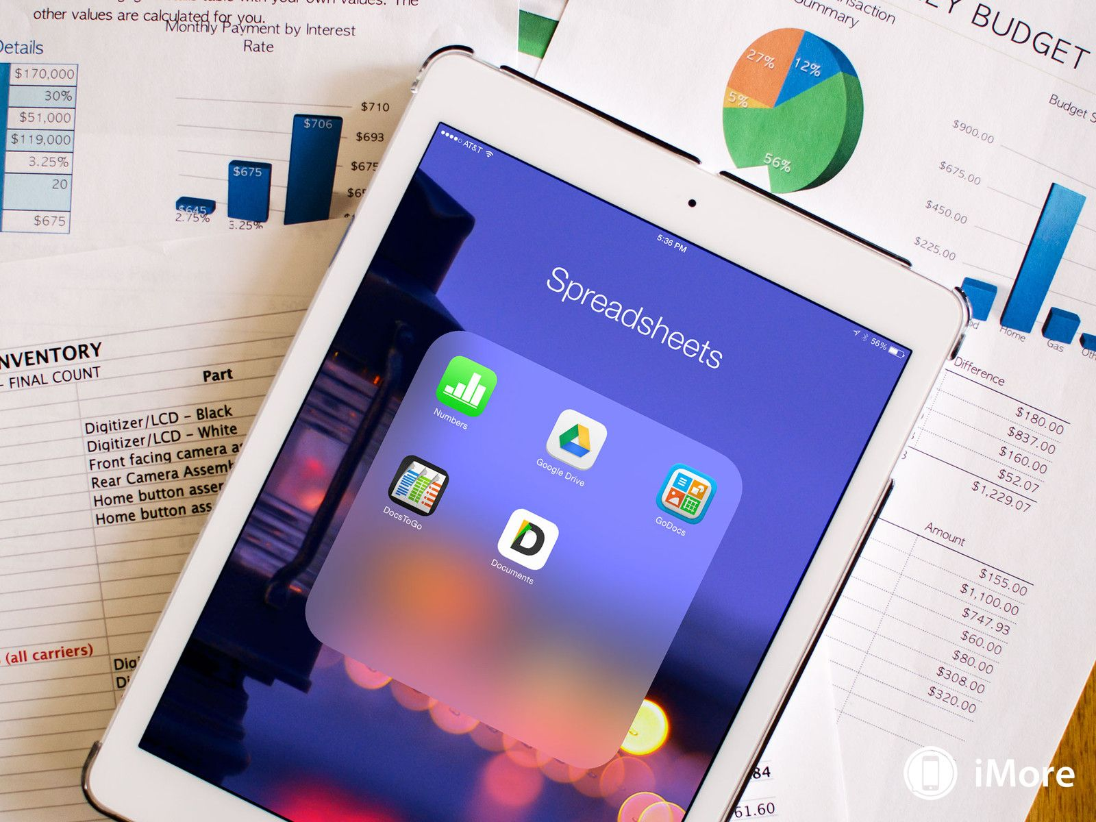 Best spreadsheet apps for iPad Numbers, Google Drive