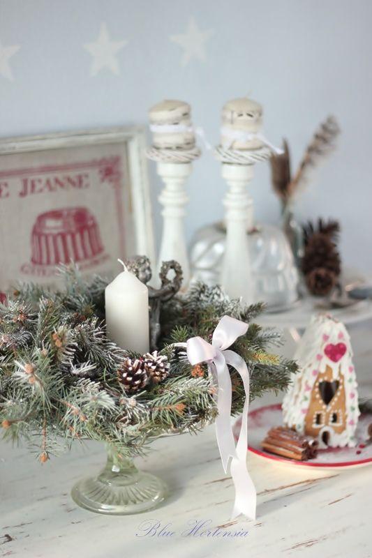 Синий Гортензия Christmas Decorating Ideas Pinterest Cottage