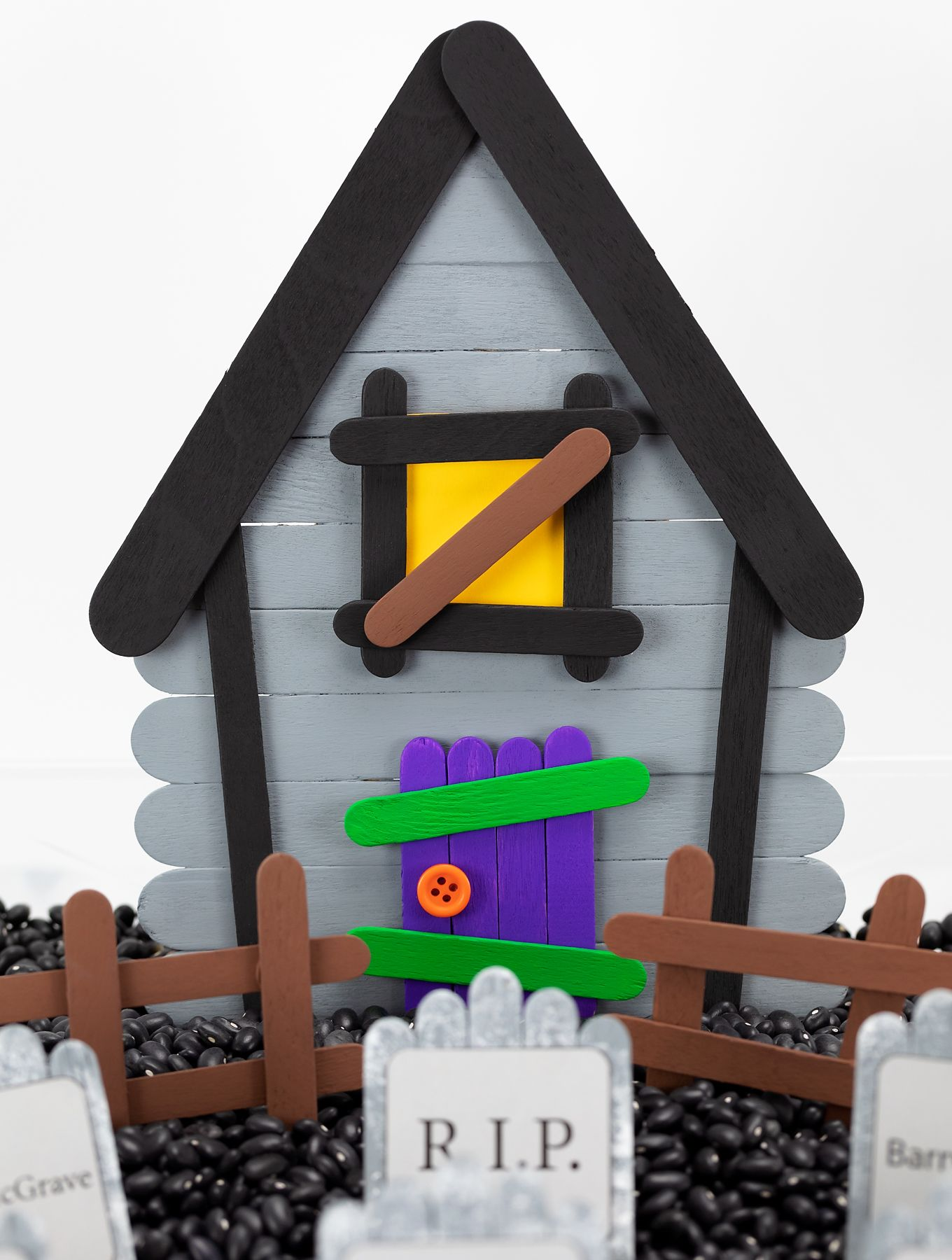 Photo of Popsicle Stick Haunted House | Fireflies and Mud Pies