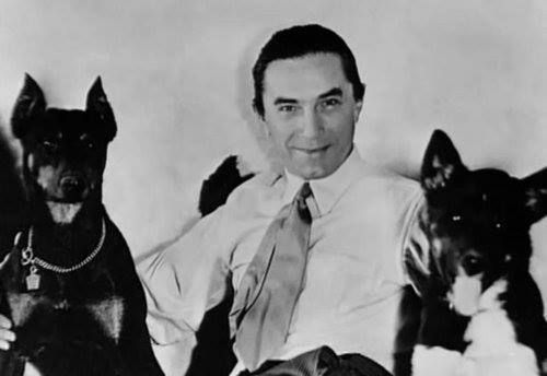 Bela Lugosi Actor Best Known For Portraying Dracula His Doberman