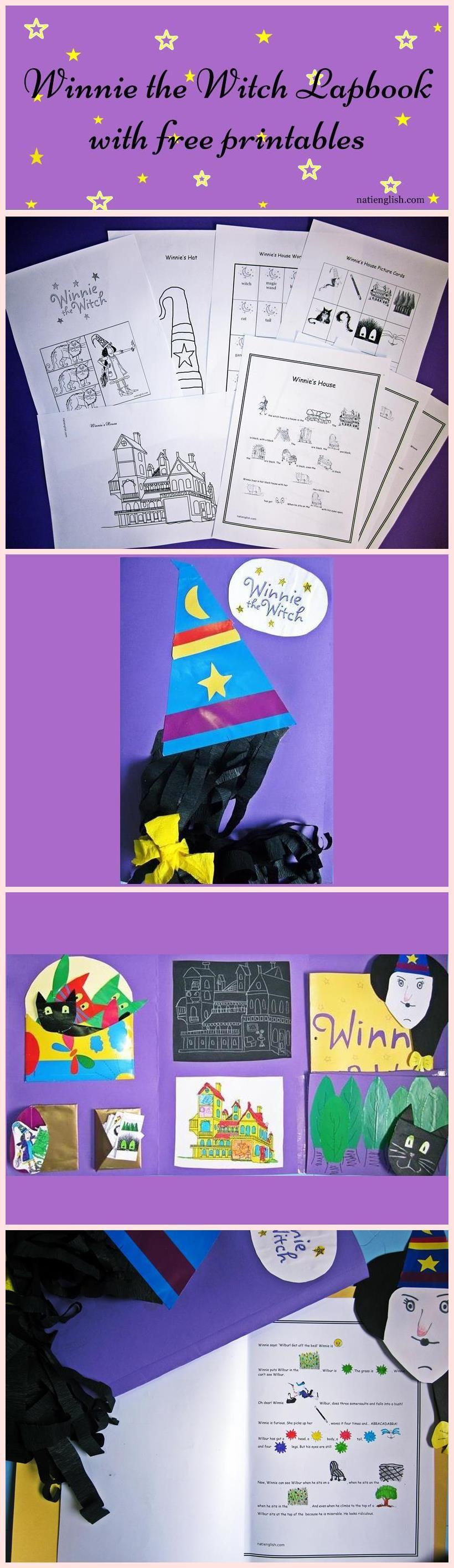 winnie's house lapbook, free printables, esl stories, esl kids | esl