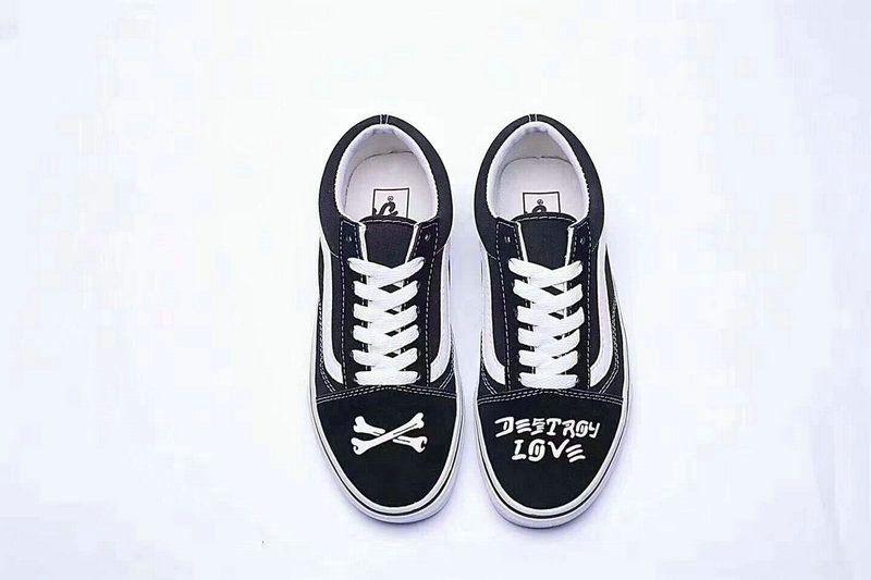 5b52682875 Vans Classic Old Skool Black White Skeleton Love Fashion Perfect SP21 Skate  Shoe  Vans