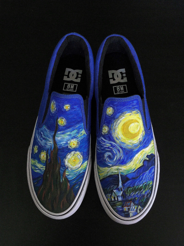 Starry night van gogh, Painted sneakers
