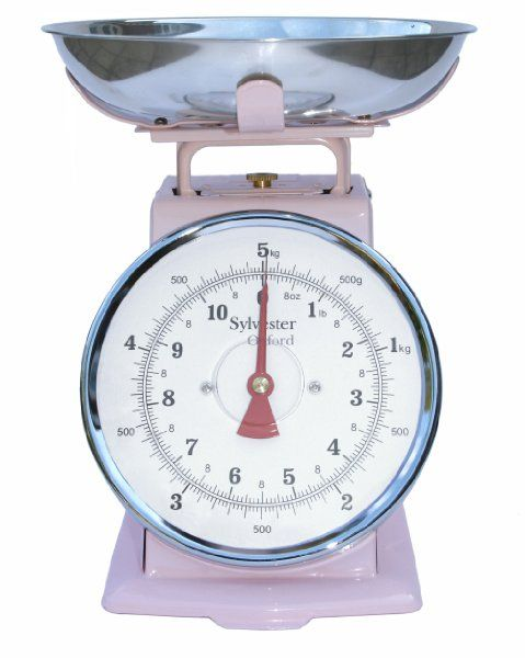Retro Style Mechanical Kitchen Scales In Pale Pink 5kg Amazon Co Uk Kitchen Home Kitchen Scale Kitchen Mood Board Kitchen Styling