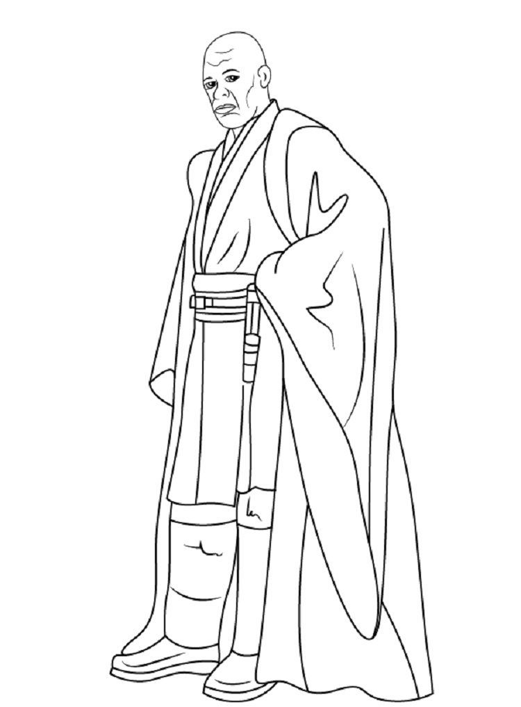 Star Wars Coloring Pages Mace Windu