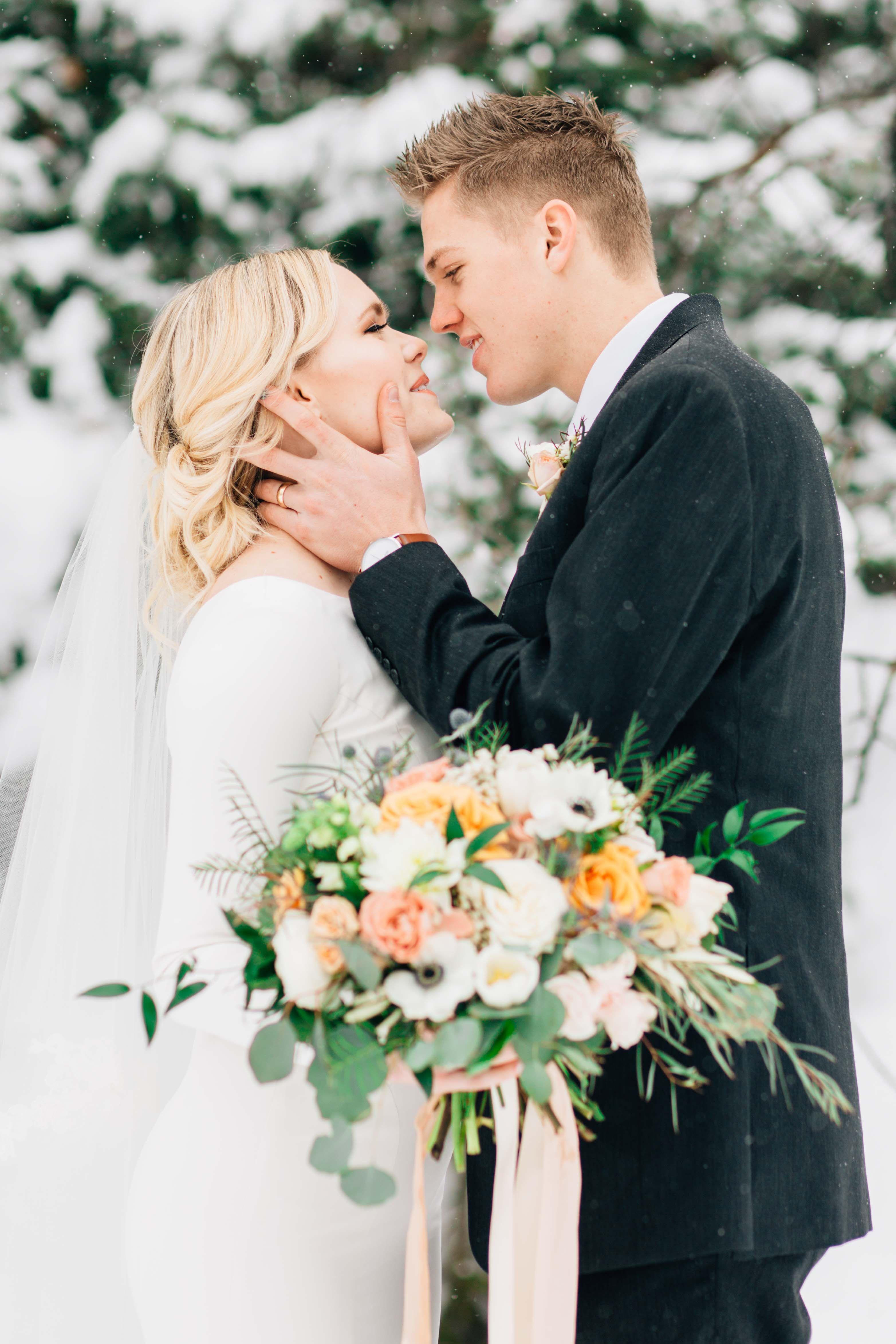 Winter Wedding Logan Utah Florist Florals By Fleur Market Winter Wedding Wedding Logan Utah