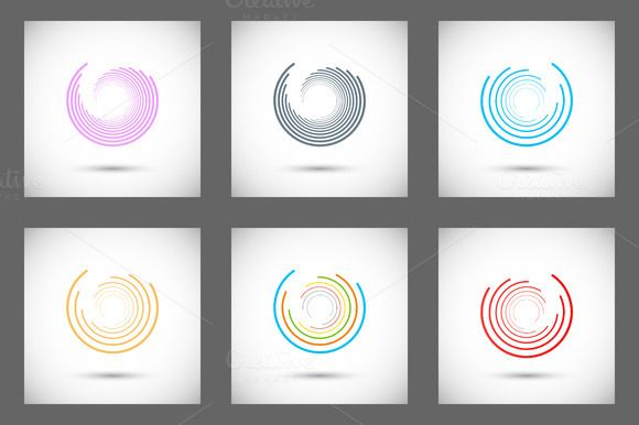 Set abstract color circle by Haisonok on @creativemarket
