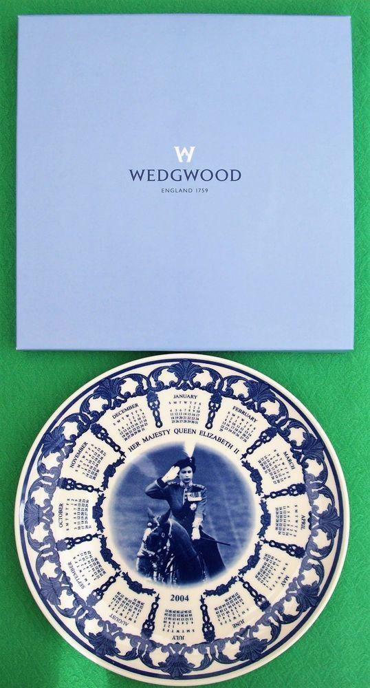 Wedgwood Ceramic 2004 Calendar Plate Young Elizabeth Ll In