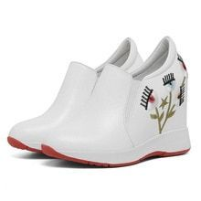 Tennis Shoes Women Platform Creepers Genuine Leather Wedges High Heel Party Pumps Embroider F Tennis Shoes Women Platform Creepers Genuine Leather Wedges High Heel Party...
