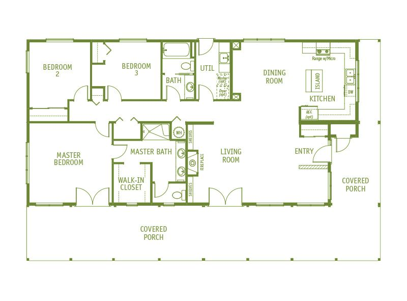 Timberland Homes Aspen Floorplan