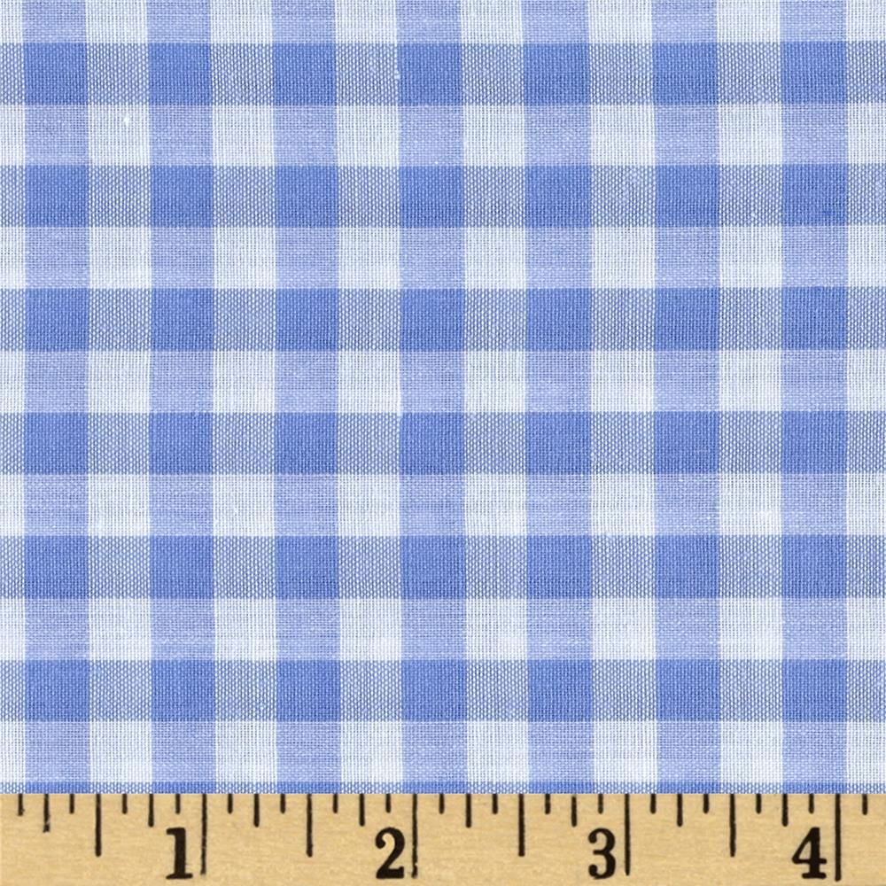 Richcheck 60 Gingham Check 1 4 Blue Gingham Fabric Fabric