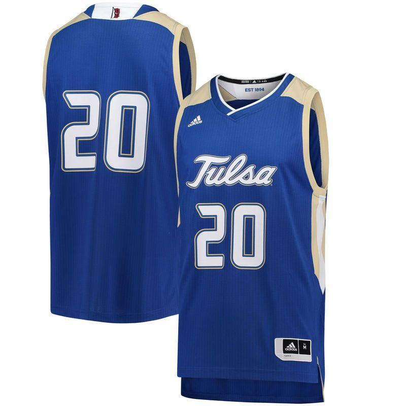 new product 4c0a7 644e5 20 Tulsa Golden Hurricane adidas Replica Basketball Jersey ...