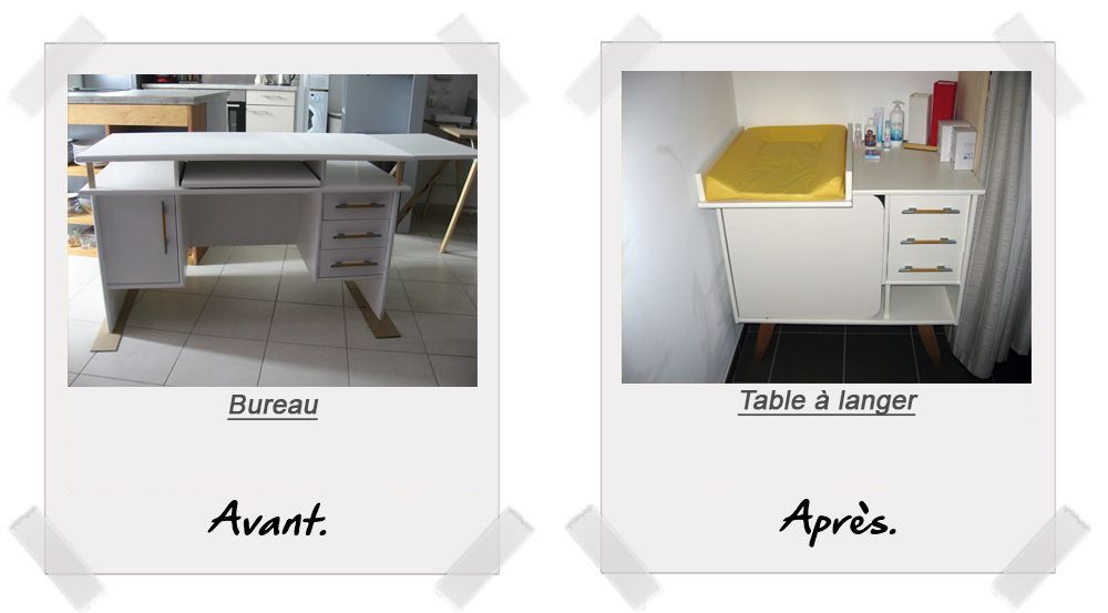 transformer son meuble de bureau en table langer cest possible diy