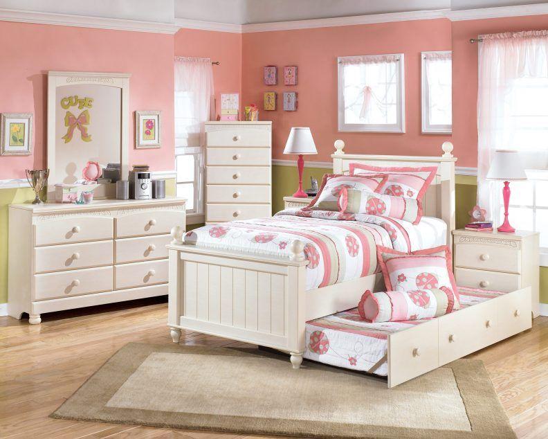 Bedroom Sets For Kids White Table Lamp Above Black Drawer Bedside ...
