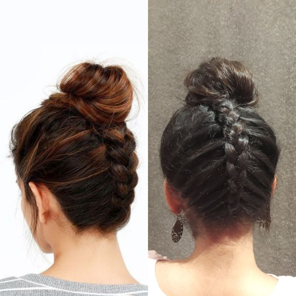 Sample 1: Here's how we recreated this chic Upside Down Dutch Braid