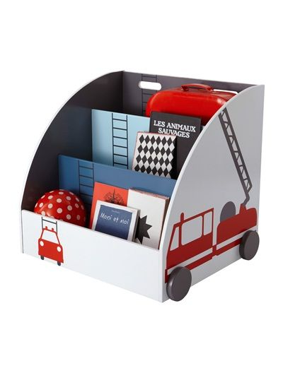 Fahrbares Bücherregal Für Kinder BEDRUCKT