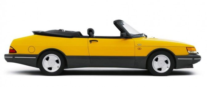 1994 Saab 900 Turbo 16s Cabriolet Monte Carlo Yellow Out Of All The 900s Ever Made The Yellow Cabriolet Is Epic Seeing One B Saab 900 Saab 900 Turbo Mazda