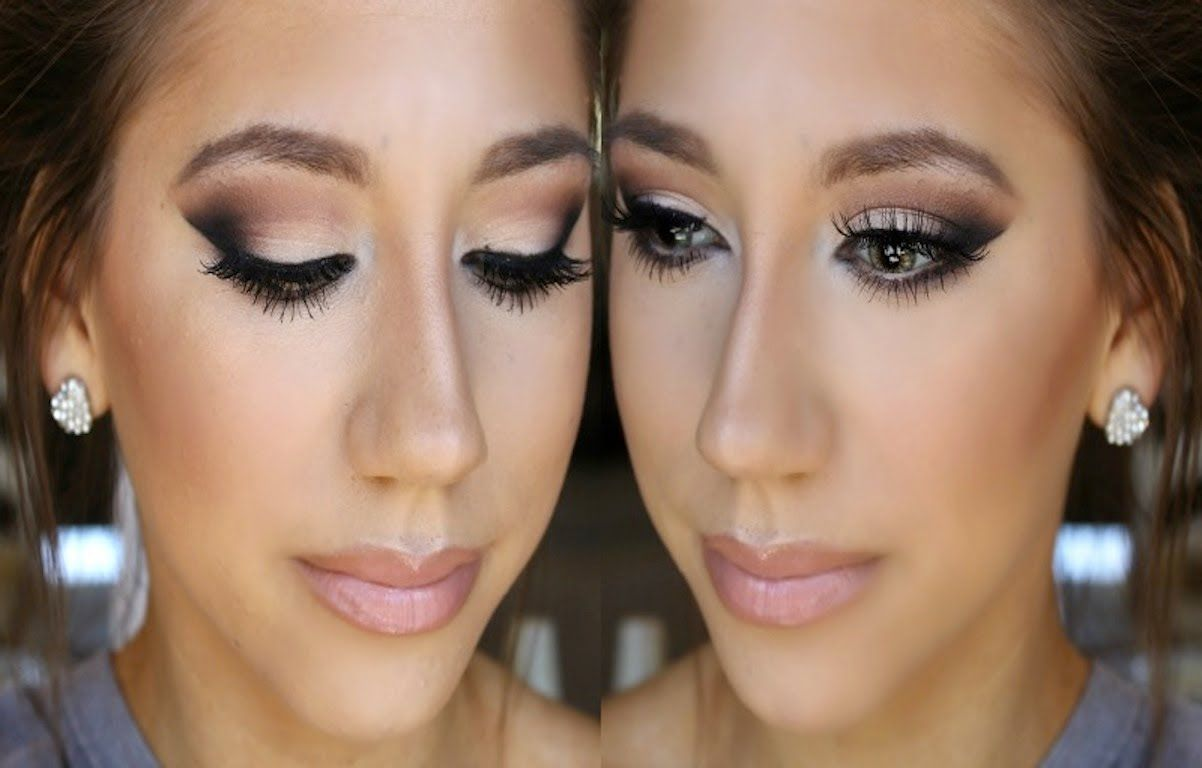 Prom Makeup 2014 Neutrals For Any Color Dress Black Dress Prom Makeup Black Dress Makeup Dress Makeup [ 768 x 1202 Pixel ]