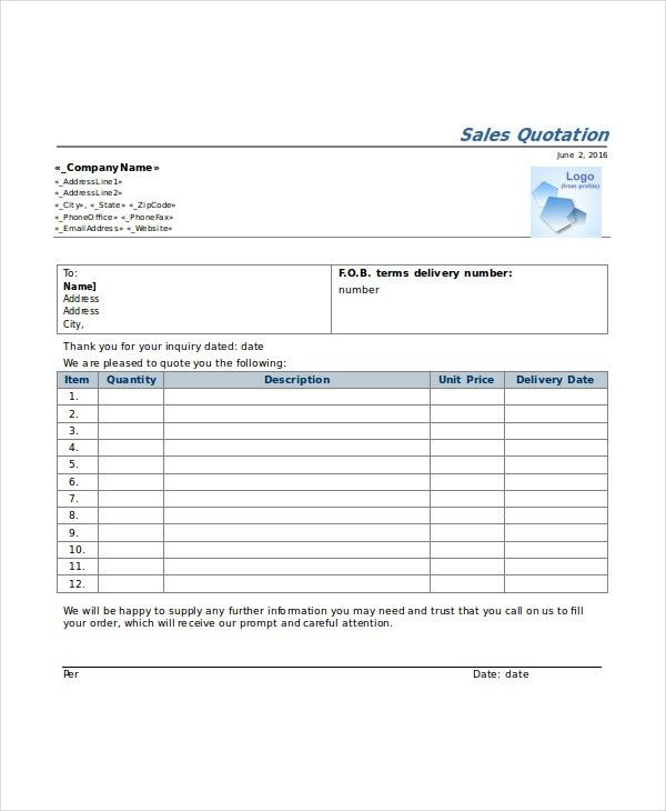 30 Quotation Templates Free Sample Example Format Free Template