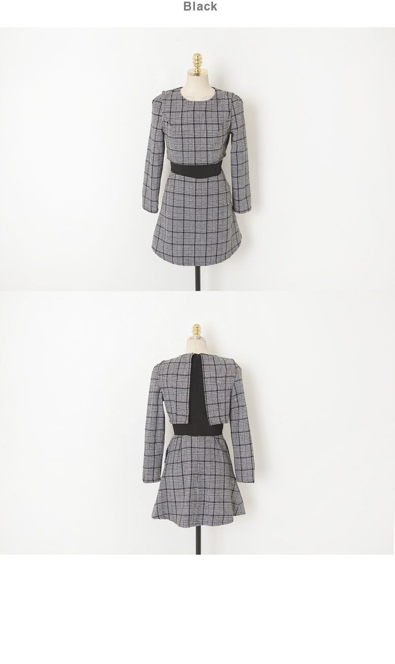 Layered Checker Dress