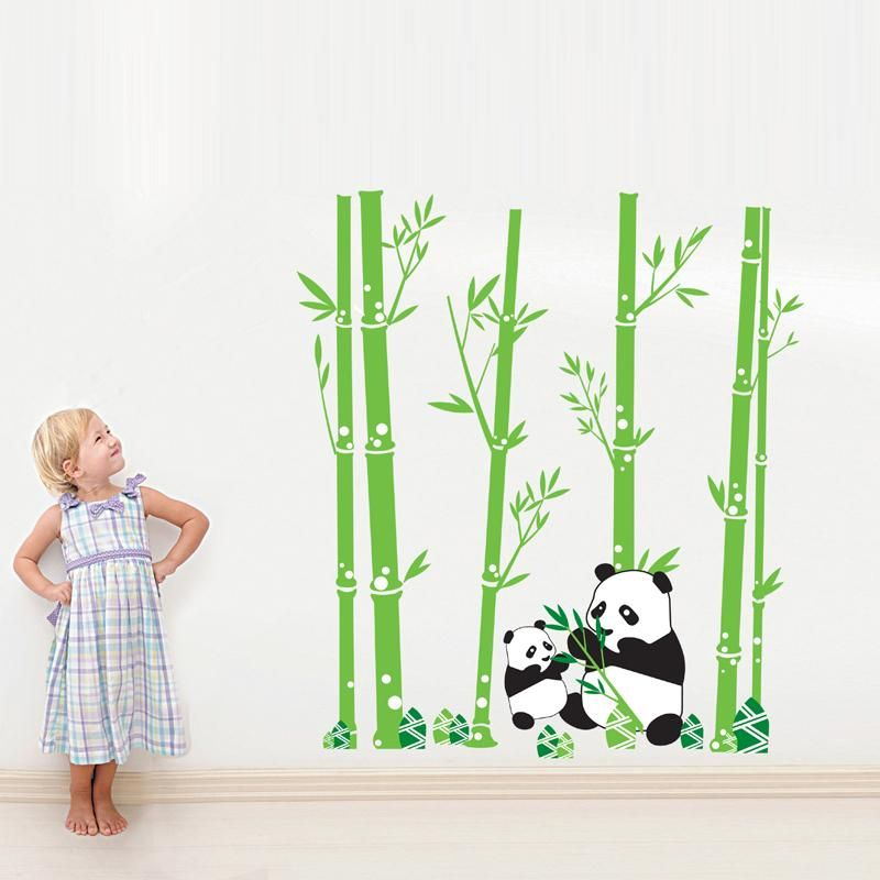 Aliexpresscom Buy Bamboo Panda DIY Vinyl Wall Stickers Home - Vinyl wall decals bamboo