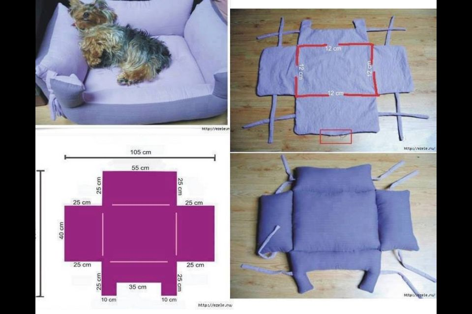 Dog bed diy(found at google,credits to the one who made it)