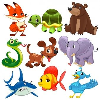 Colección De Animales A Color Imagenes Cute Cartoon Animals