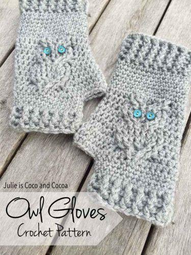 Owl Gloves Crochet Pattern Homesteading - The Homestead Survival ...
