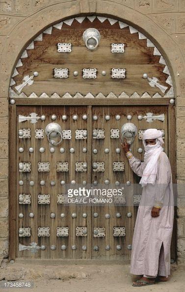 Door 15th Century Sidi Yahya Mosque Timbuktu Unesco