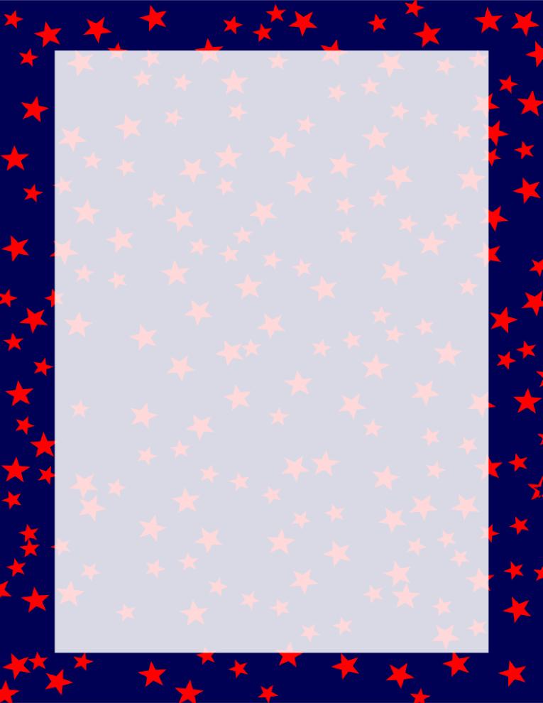 Stars Border Navy and Red Flag design, Border, Framed