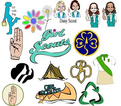 Great free clip art for Girl Scouts! There are even SVG files that
