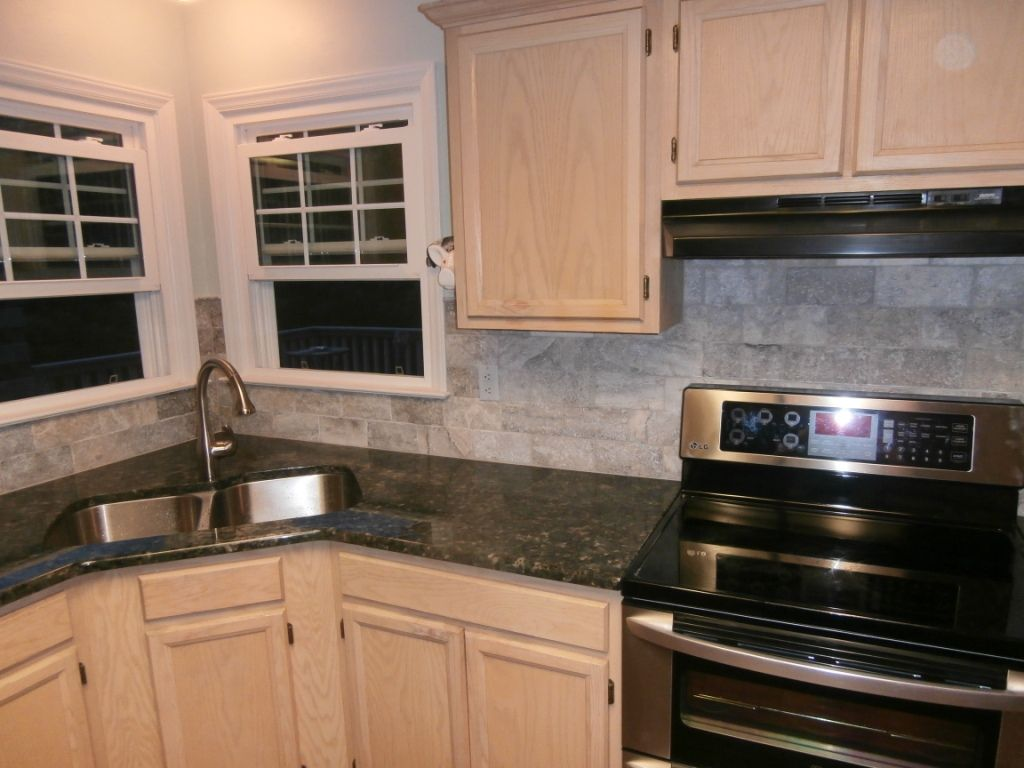 Verde Butterfly Granite Countertops White Cabinets