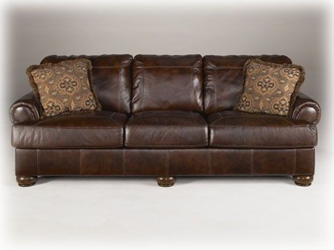 Axiom Walnut Sofa4200038 Rustic Living Room Furniture Ashley