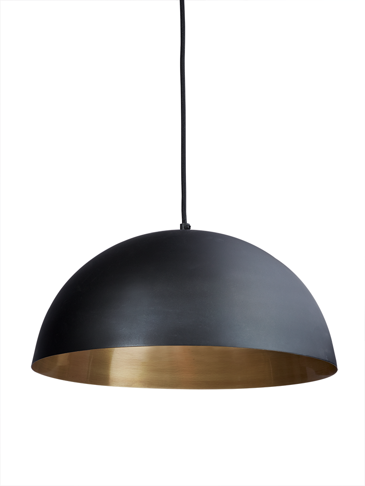 Delightful With A Smooth Black Outside And Brushed Gold Colour Inside, Our Dome Pendant  Light Is